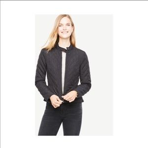 NWOT Ann Taylor quilted Moto bomber jacket sz 6